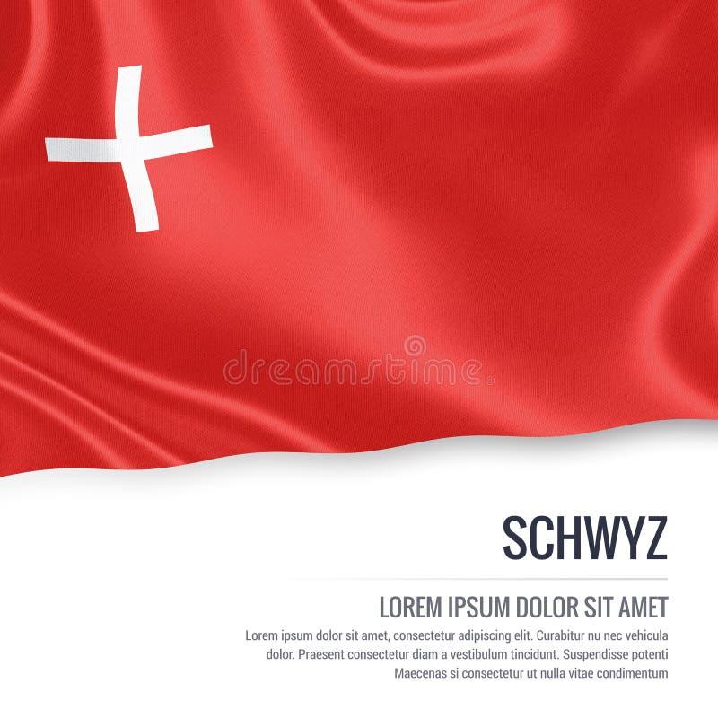 Drapeau de Schwyz d'état de la Suisse illustration de vecteur