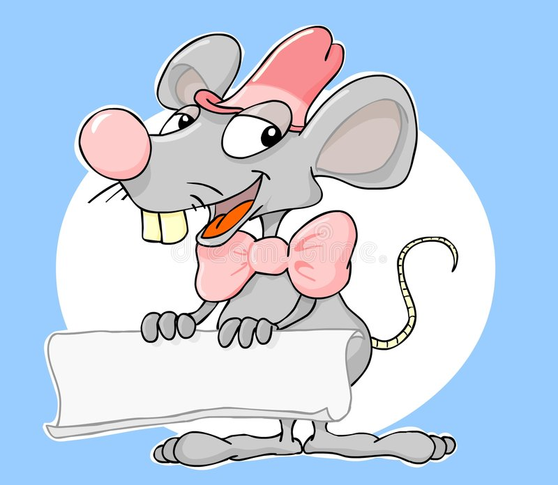 Drapeau de souris illustration de vecteur