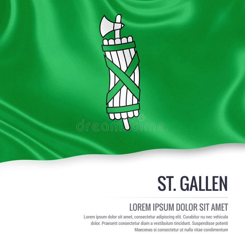 Drapeau de St Gallen d'état de la Suisse illustration libre de droits