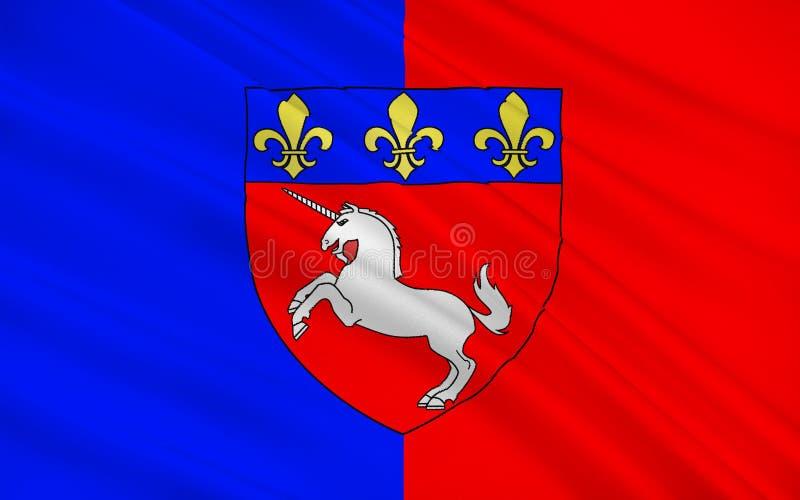 Drapeau de St Lo, France image libre de droits