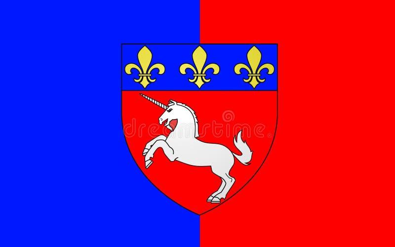Drapeau de St Lo, France photos libres de droits
