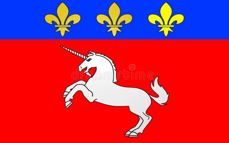 Drapeau de St Lo, France illustration libre de droits