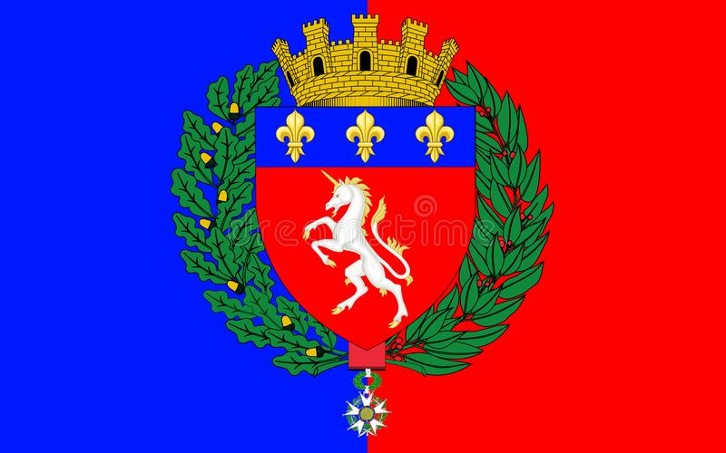 Drapeau de St Lo, France image stock