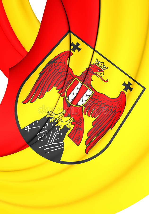 Drapeau de terre du Burgenland, Autriche illustration de vecteur