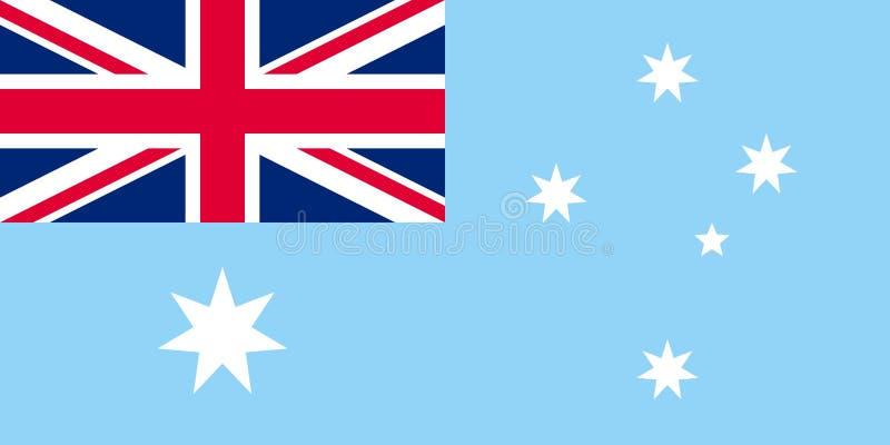 Drapeau de territoire antarctique australien illustration libre de droits