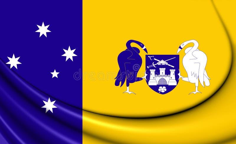 Drapeau de territoire de capitale australienne illustration de vecteur
