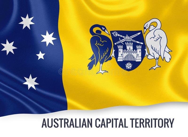 Drapeau de territoire de capitale australienne d'état australien illustration libre de droits