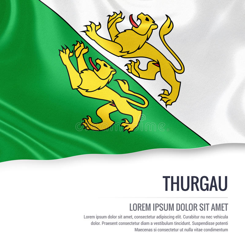 Drapeau de Thurgau d'état de la Suisse illustration libre de droits