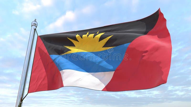 Drapeau de tissage du pays Antigua-et-Barbuda illustration de vecteur