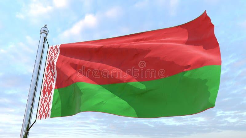 Drapeau de tissage du pays Belarus illustration stock