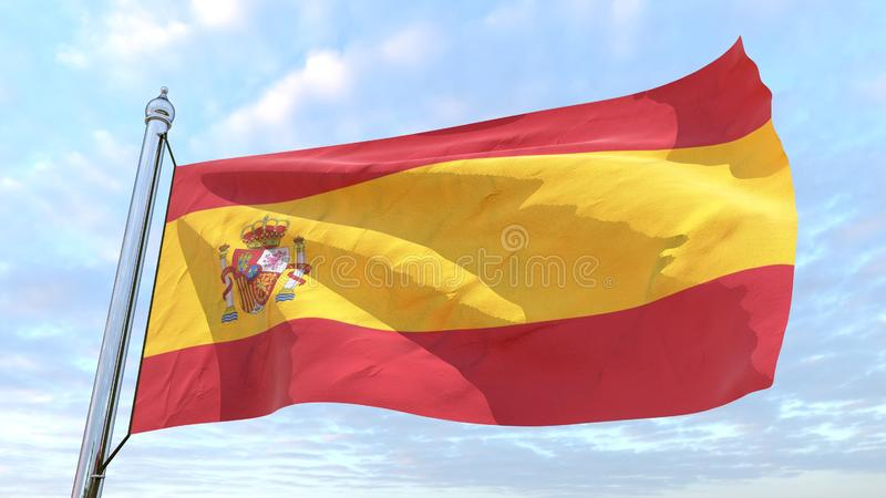 Drapeau de tissage du pays Espagne illustration stock