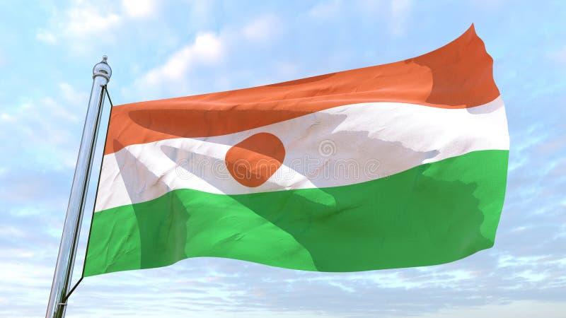 Drapeau de tissage du pays Niger illustration stock