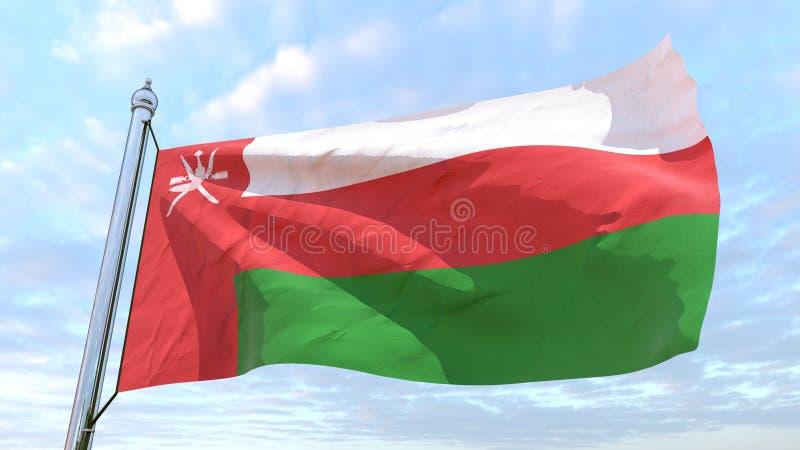 Drapeau de tissage du pays Oman illustration de vecteur