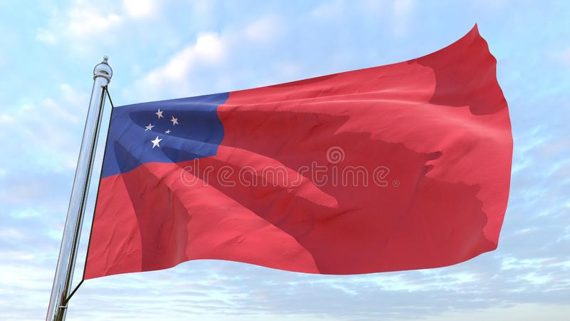 Drapeau de tissage du pays Samoa illustration stock