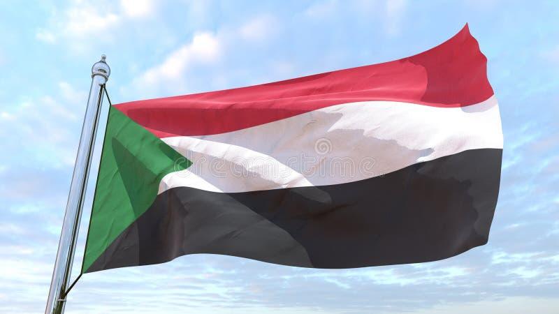 Drapeau de tissage du pays Soudan illustration libre de droits
