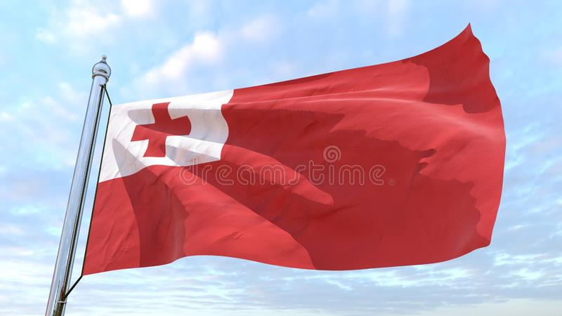 Drapeau de tissage du pays Tonga illustration stock