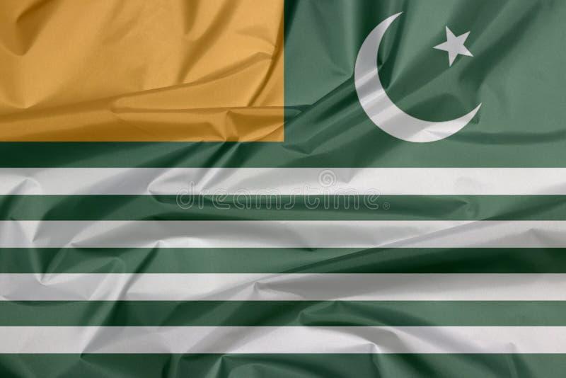Drapeau de tissu de drapeau d'état d'Azad Kashmir illustration stock