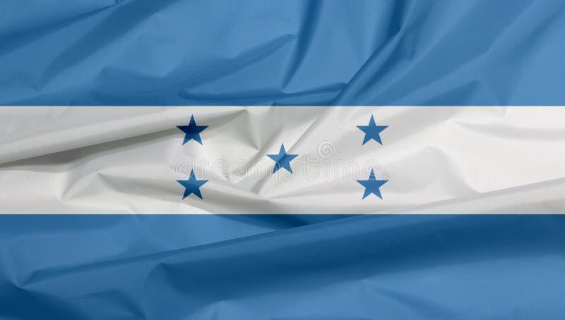 Drapeau de tissu du Honduras Pli de fond hondurien de drapeau illustration de vecteur