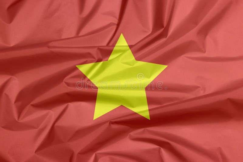 Drapeau de tissu du Vietnam du Nord 1945 to1955 photos libres de droits