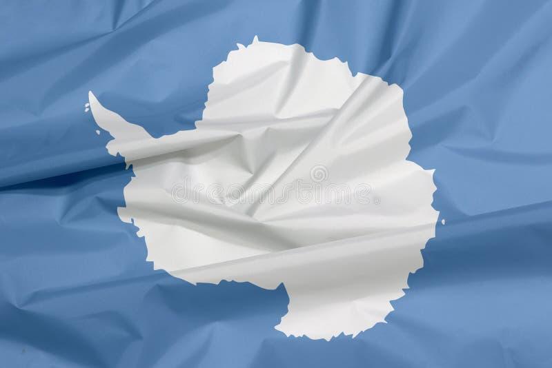 Drapeau de tissu de l'Antarctique Pli de fond de drapeau de l'Antarctique photographie stock libre de droits