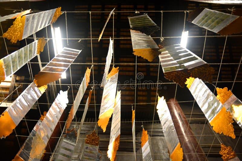 Drapeau de Tung de Lanna chez au nord de la Thaïlande photo stock