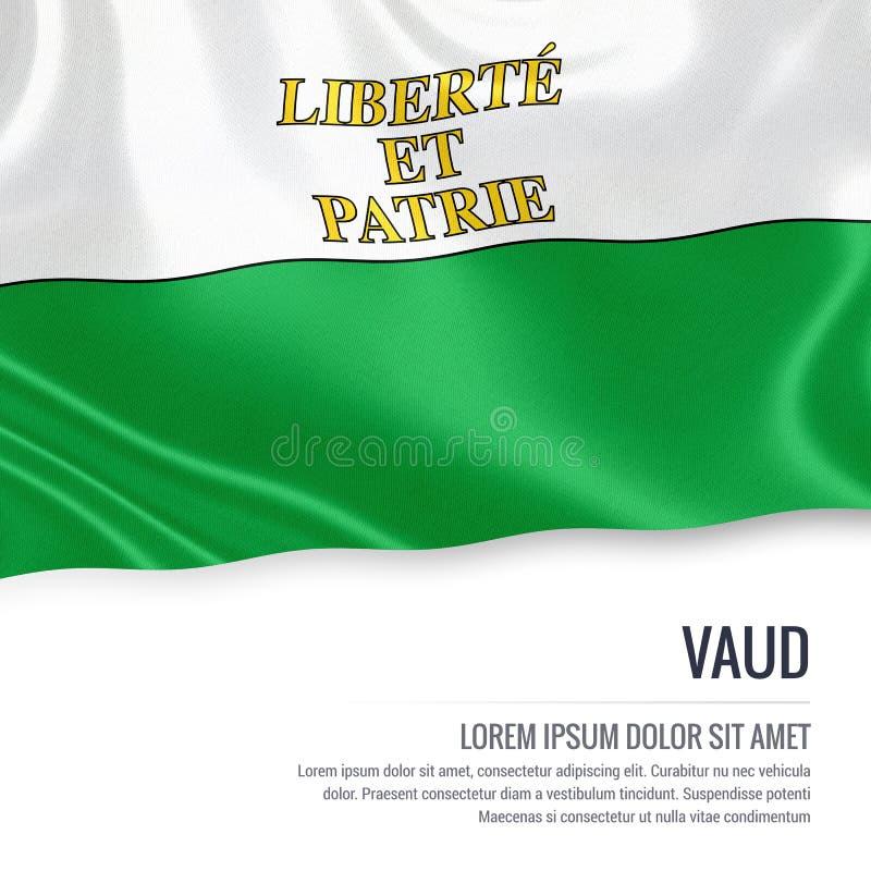 Drapeau de Vaud d'état de la Suisse illustration de vecteur