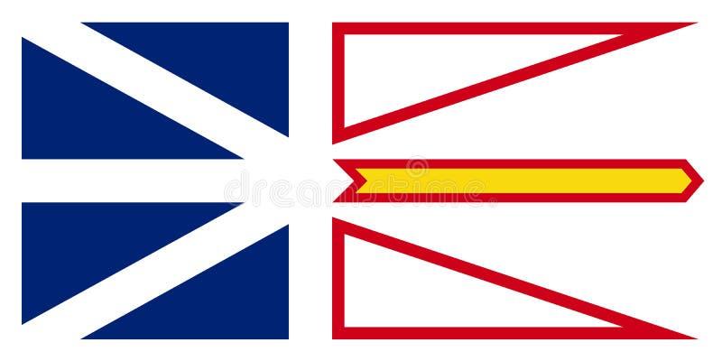 Drapeau de vecteur de Canada de Terre-Neuve et de Labrador St Johns illustration libre de droits