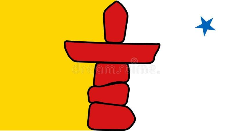 Drapeau de vecteur de Canada de territoire de Nunavut illustration de vecteur