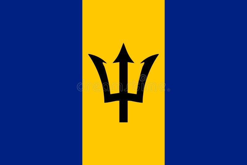Drapeau de vecteur des Barbade illustration libre de droits