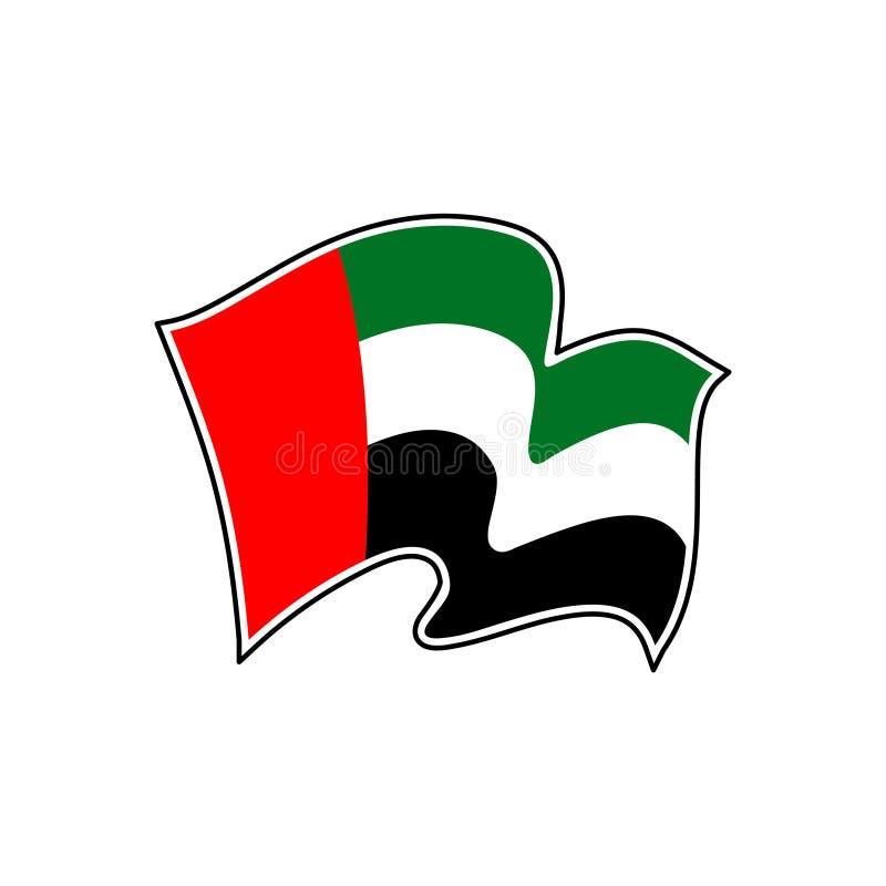 Drapeau de vecteur des Emirats Arabes Unis l'Abu Dhabi illustration de vecteur