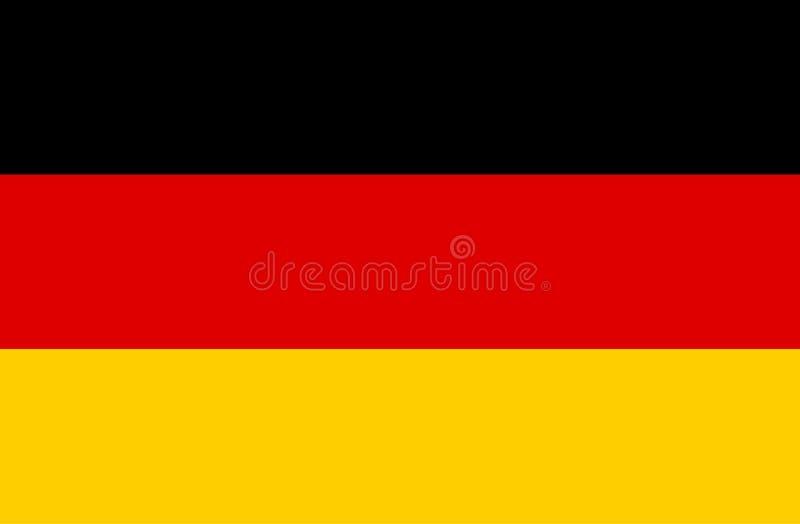Drapeau de vecteur de l'Allemagne images libres de droits