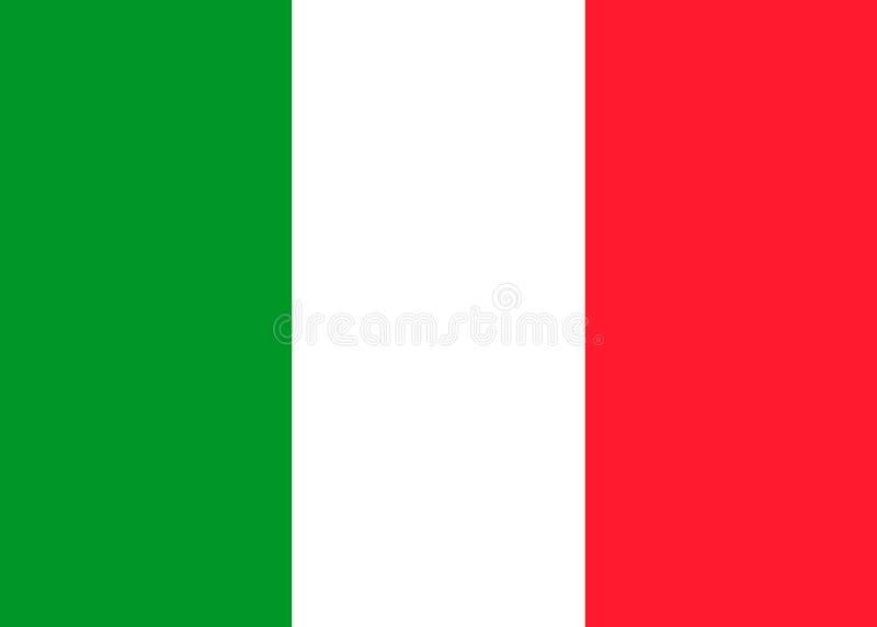 Drapeau de vecteur de l'Italie illustration de vecteur