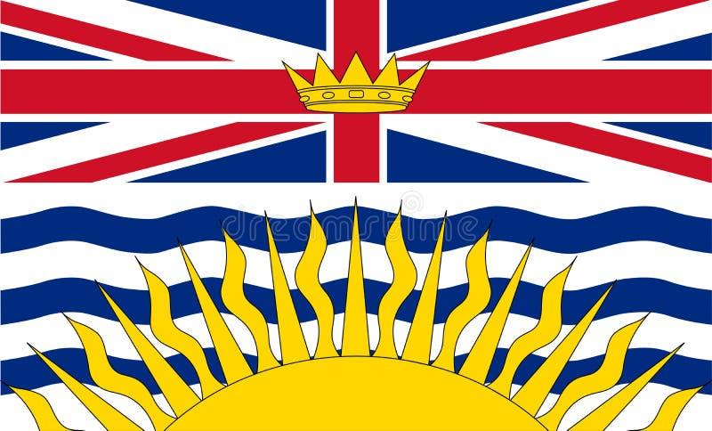 Drapeau de vecteur de la Colombie-Britannique Canada Vancouver illustration stock