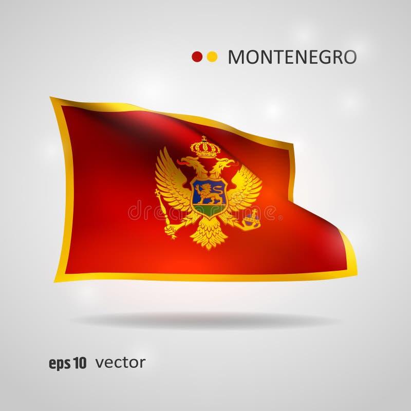 Drapeau de vecteur de Monténégro illustration stock