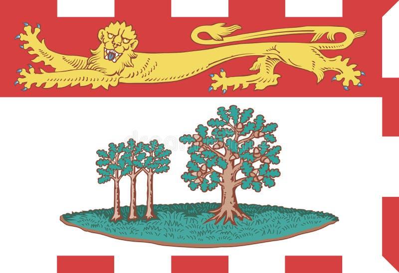 Drapeau de vecteur de prince Edward Island, province du Canada illustration stock