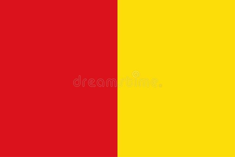 Drapeau de vecteur de ville de Liège, Belgique Province de Liège illustration libre de droits
