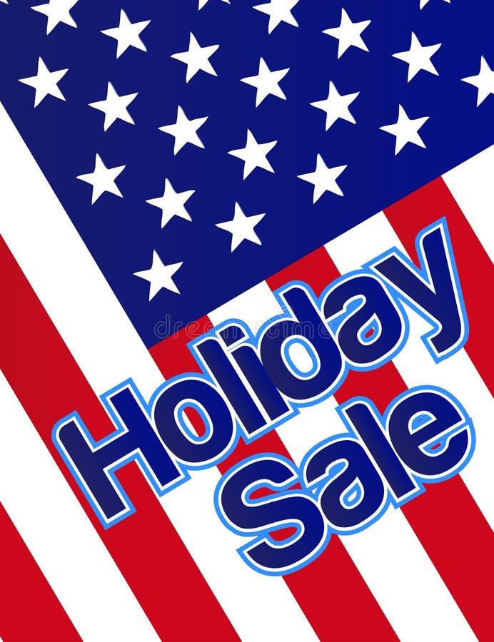 Drapeau de vente de vacances illustration stock