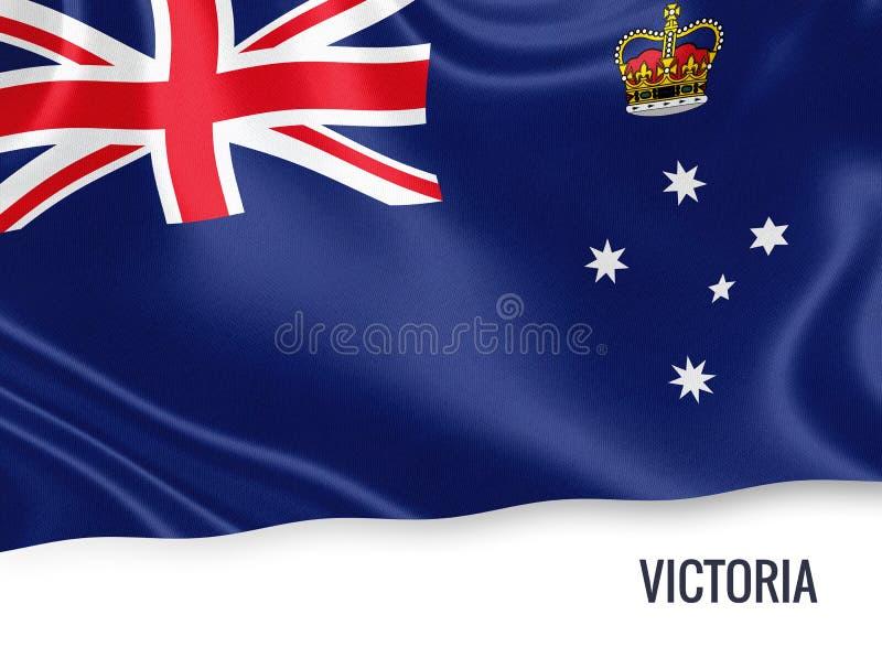 Drapeau de Victoria d'état australien illustration stock