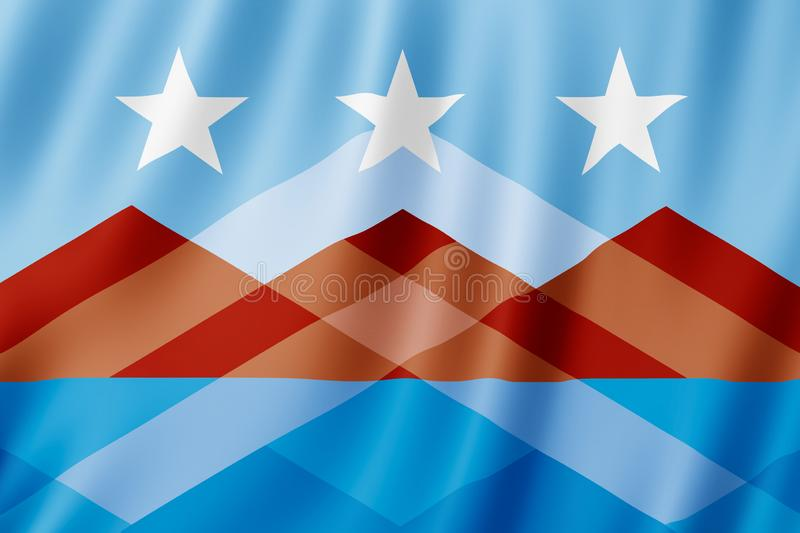 Drapeau de ville de Peoria, Arizona USA illustration stock