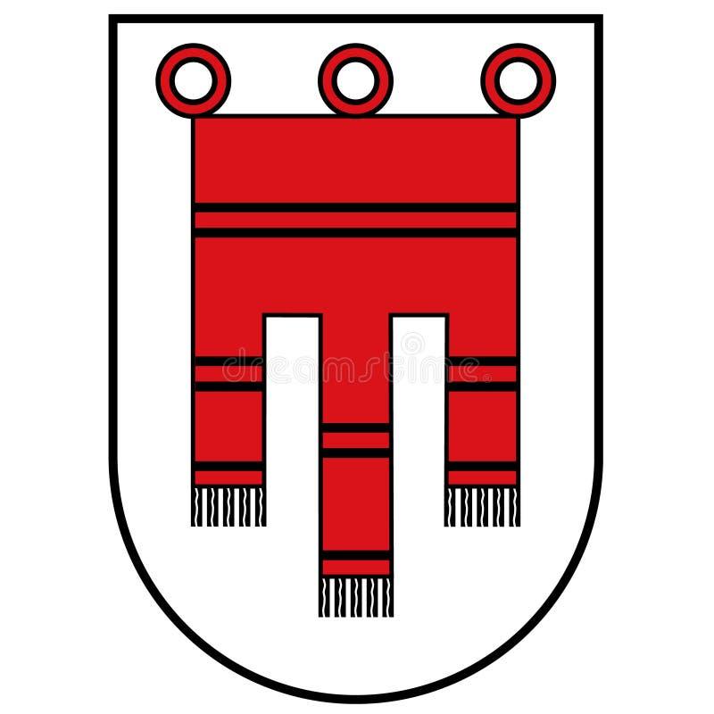 Drapeau de Vorarlberg illustration libre de droits