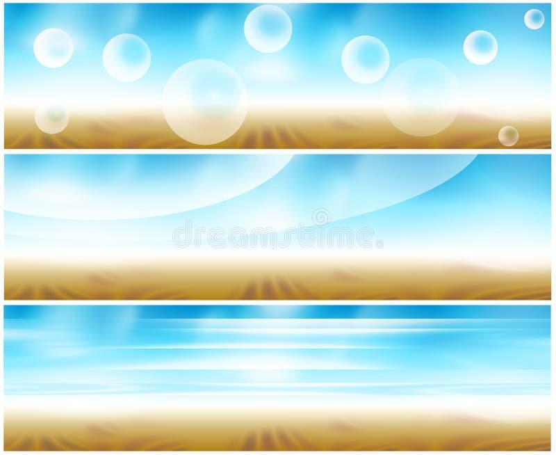 Drapeau de Web du positionnement 3 illustration stock