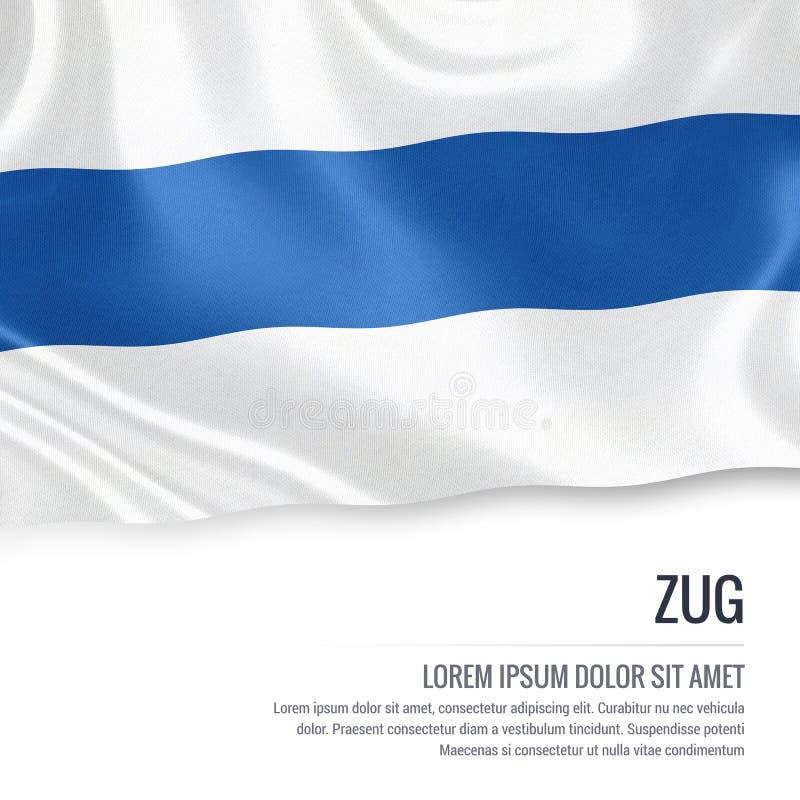 Drapeau de Zug d'état de la Suisse illustration de vecteur