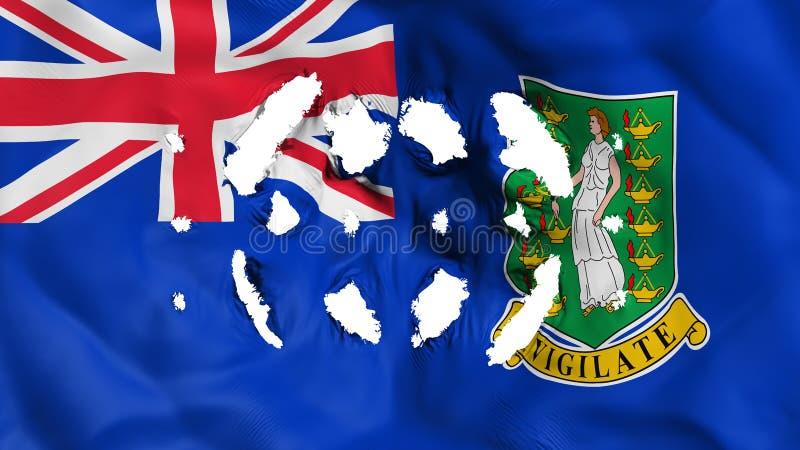 Drapeau des Îles Vierges britanniques avec petits trous illustration stock