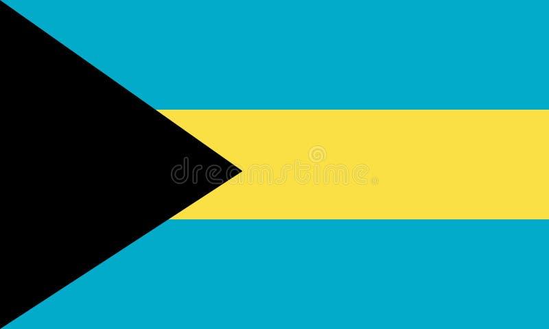 Drapeau des Bahamas illustration de vecteur