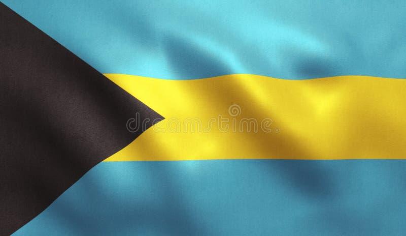 Drapeau des Bahamas illustration stock