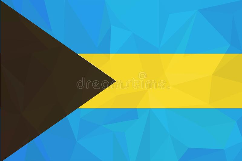 Drapeau des Bahamas, couleurs officielles et proportion correctement Drapeau national des Bahamas Illustration de vecteur illustration stock