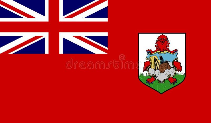 Drapeau des Bermudes illustration libre de droits