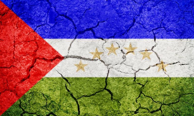 Drapeau des Caraïbes du sud de région autonome de côte image libre de droits