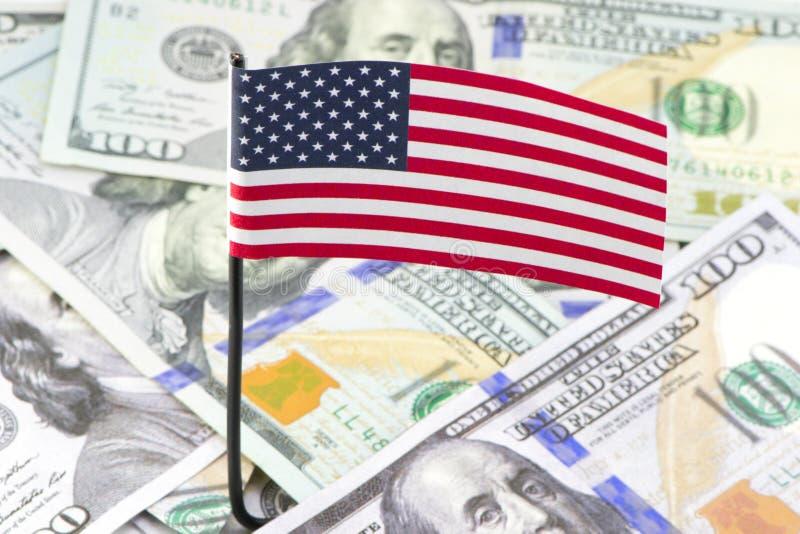 Drapeau des dollars d'Etats-Unis photo stock