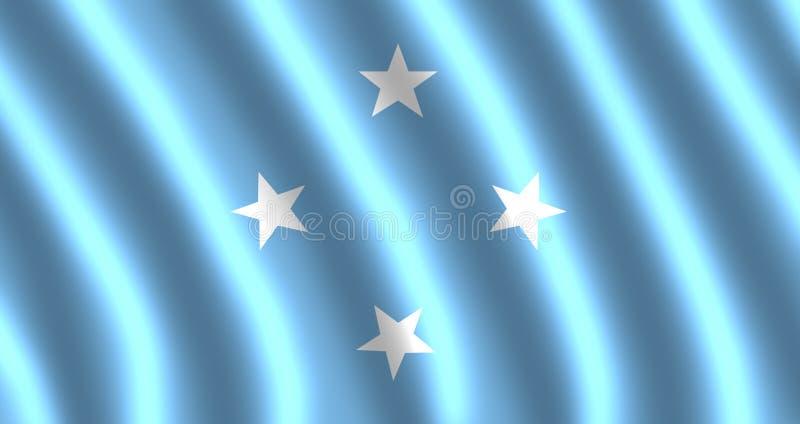 Drapeau des Etats fédérés de Micronésie illustration stock